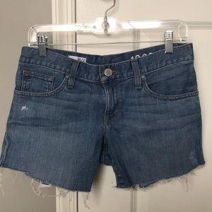 Gap Distressed Jean Shorts